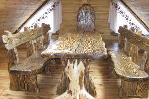 Стол со скамьей 1026