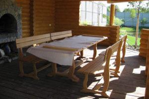 Стол со скамьей 1025