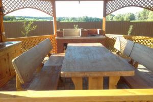 Стол со скамьей 1028